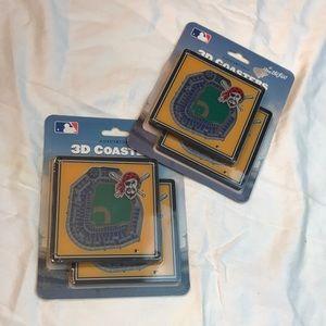 New StadiumViews 3D Coaster set-Pittsburgh Pirates